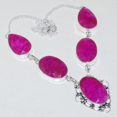 Rub 743a collier parure sautoir rubis cachemire 20x30mm achat vente bijou argent 925