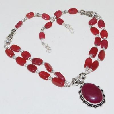 Rub 744a collier parure sautoir rubis cachemire 20x25mm achat vente bijou argent 925