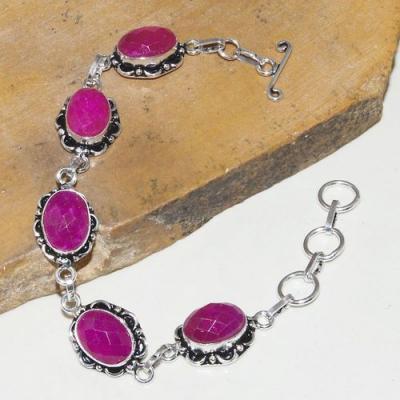 Rub 749a bracelet rubis cachemire achat vente bijou argent 925