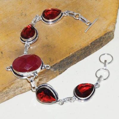 Rub 752a bracelet rubis cachemire grenat achat vente bijou argent 925