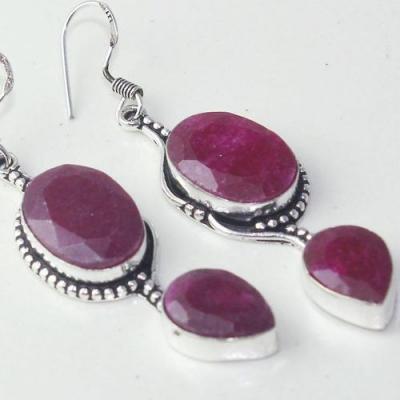 Rub 754c boucles pendants oreilles rubis cachemire achat vente bijou argent 925
