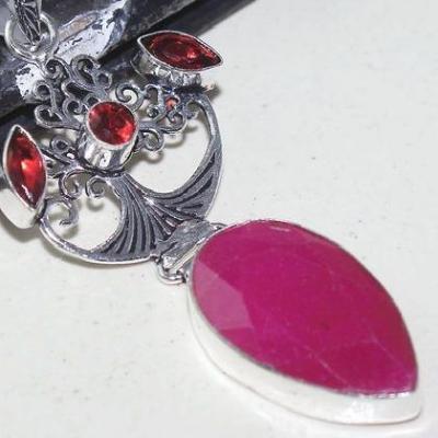 Rub 759c pendentif pendant rubis cachemire grenat achat vente bijou argent 925