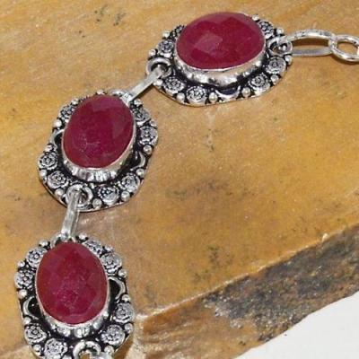 Rub 771c bracelet rubis cachemire 10x15mm achat vente bijou argent 925