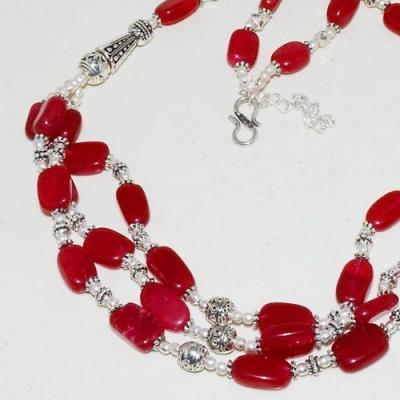 Rub 779b collier parure sautoir perles rubis cachemire achat vente bijou argent 925