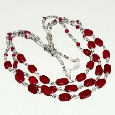 Rub 781d collier parure sautoir perles rubis cachemire achat vente bijou argent 925