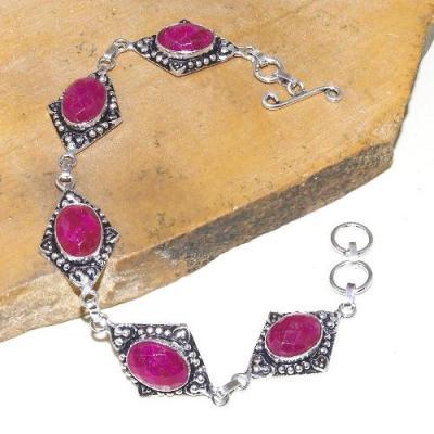 Rub 786a bracelet rubis cachemire 10x15mm achat vente bijou argent 925