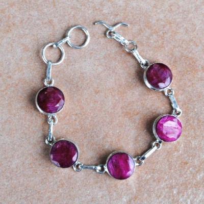 Rub 787a bracelet rubis achat vente bijou argent 925
