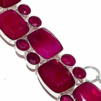 Rub 920c bracelet 15xrubis 18x25mm 50gr bijou ethnique achat vente argent 925