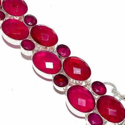 Rub 921c bracelet 16xrubis 12x20mm 50gr bijou ethnique achat vente argent 925