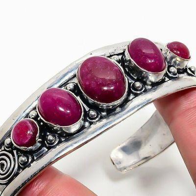 Rub 936b bracelet torque rubis 10x15mm 28gr cachemire bijou ethnique achat vente argent 925