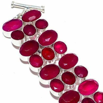 Rub 938b bracelet torque rubis 10x15mm 46gr cachemire bijou ethnique achat vente argent 925