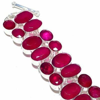 Rub 939c bracelet torque rubis 10x15mm 43gr cachemire bijou ethnique achat vente argent 925