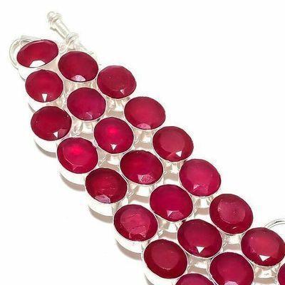 Rub 940c bracelet torque rubis 10x15mm 43gr cachemire bijou ethnique achat vente argent 925