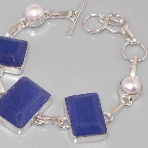 Sa 0311b bracelet saphir perle cachemir argent 925 achat vente
