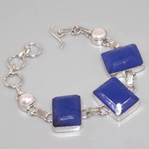 Sa 0311c bracelet saphir perle cachemir argent 925 achat vente
