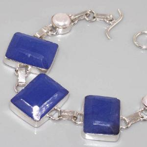 Sa 0311d bracelet saphir perle cachemir argent 925 achat vente
