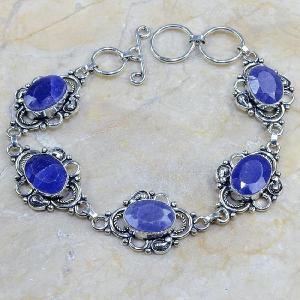 Sa 0314d bracelet saphir cachemire argent 925 achat vente