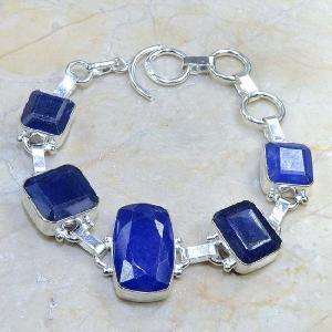 Sa 0334d bracelet saphir cachemir bijoux argent 925 achat vente