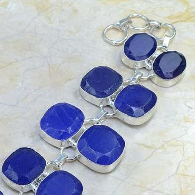 Sa 0336b bracelet saphir cachemir bijoux argent 925 achat vente 1