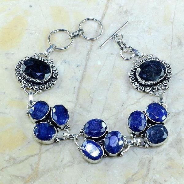 Sa 0341a bracelet saphir cachemir bijoux argent 925 achat vente 1