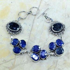 Sa 0341a bracelet saphir cachemir bijoux argent 925 achat vente