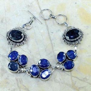 Sa 0341d bracelet saphir cachemir bijoux argent 925 achat vente
