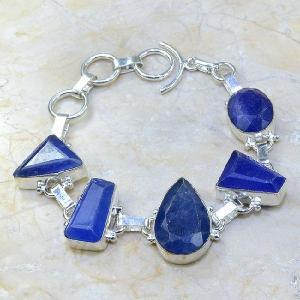 Sa 0343a bracelet saphir cachemir bijoux argent 925 achat vente