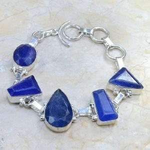 Sa 0343d bracelet saphir cachemir bijoux argent 925 achat vente