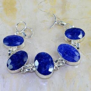 Sa 0347a bracelet saphir cachemir bijoux argent 925 achat vente