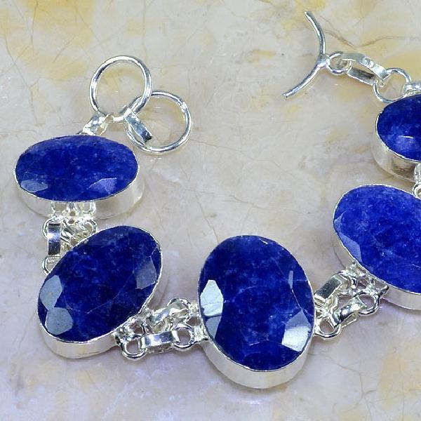 Sa 0347c bracelet saphir cachemir bijoux argent 925 achat vente