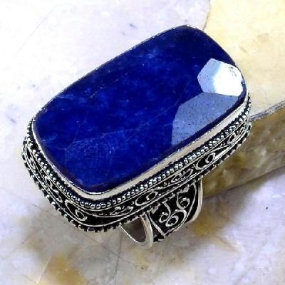 Sa 0354a bague royale t59 saphire cachemire bijou argent 925 achat vente 2