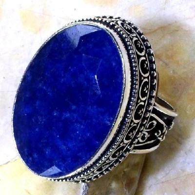 Sa 0355c bague royale t59 saphire cachemire bijou argent 925 achat vente 1