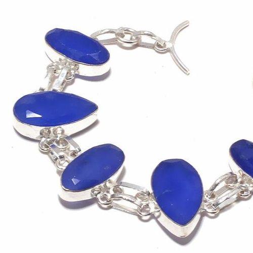 Sa 0400b bracelet saphir 15x20mm 21gr achat vente bijou ethnique argent 925