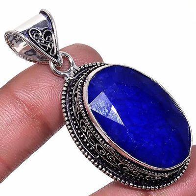 Sa 0430c pendentif pendant saphir 20x30mm 16gr achat vente bijou ethnique argent 925