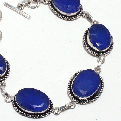 Sa 0436b bracelet saphir 20x15mm 24gr achat vente bijou ethnique argent 925
