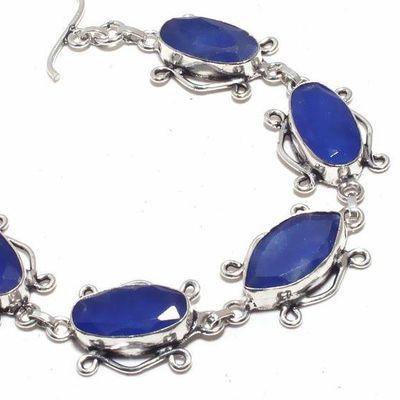 Sa 0443b bracelet saphir 20x10mm 24gr achat vente bijou ethnique argent 925