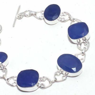 Sa 0463b bracelet saphir bleu cachemire 20gr 12x18mm achat vente bijou ethnique argent 925