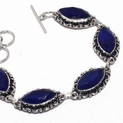 Sa 0486b bracelet saphir bleu 21gr 10x20mm achat vente bijou ethnique argent 925
