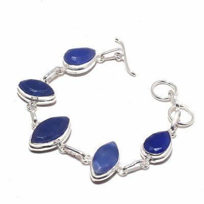Sa 0499a bracelet saphir bleu 17gr 15x10mm achat vente bijou ethnique argent 925