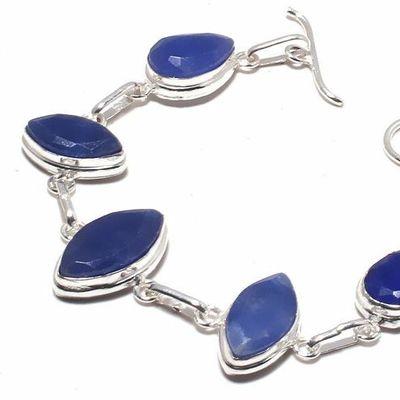 Sa 0499b bracelet saphir bleu 17gr 15x10mm achat vente bijou ethnique argent 925