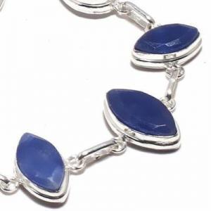 Sa 0499c bracelet saphir bleu 17gr 15x10mm achat vente bijou ethnique argent 925
