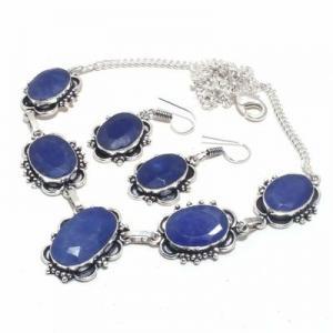 Sa 0500d collier boucles oreilles saphir bleu 38gr 15x20mm achat vente bijou argent 925
