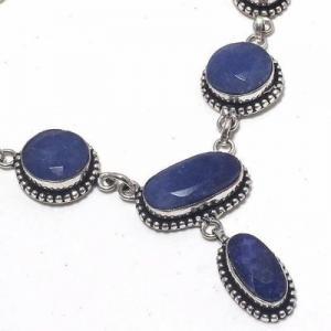 Sa 0501c collier parure sautoir saphir bleu 28gr 15x10mm achat vente bijou argent 925