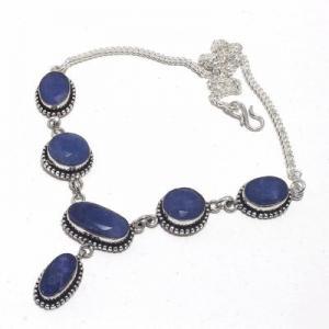 Sa 0501d collier parure sautoir saphir bleu 28gr 15x10mm achat vente bijou argent 925