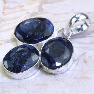 Sa 0531a pendant pendentif saphir bleu 7gr 8x10mm achat vente bijou ethnique argent 925
