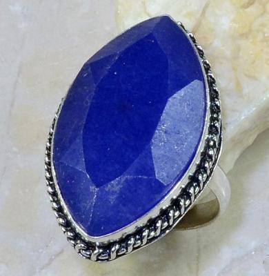 SA-8300- Grosse BAGUE Vintage T64 avec SAPHIR Bleu du cachemire - 70 carats Plq AG 925