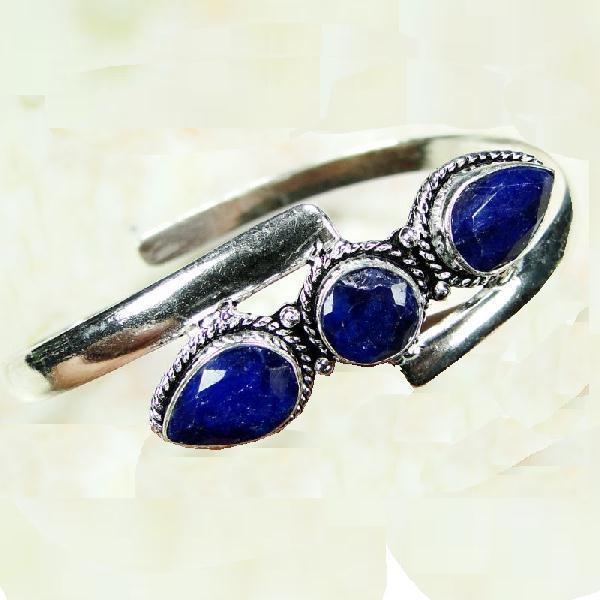 SA-8307- BRACELET en SAPHIR Bleu du cachemire - Argent 925 - 73 carats - 14g