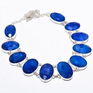 Sa 9384a collier sautoir parure saphir bleu 91gr achat vente bijou ethnique argent 925