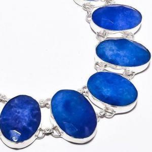Sa 9384c collier sautoir parure saphir bleu 91gr achat vente bijou ethnique argent 925