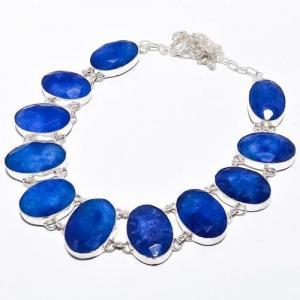 Sa 9384d collier sautoir parure saphir bleu 91gr achat vente bijou ethnique argent 925